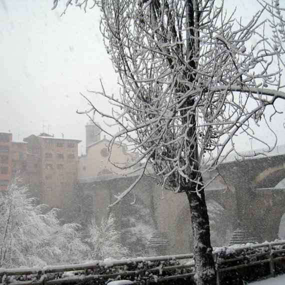 Església sota la neu
